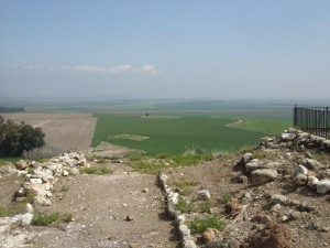 The viewpoint at Megiddo